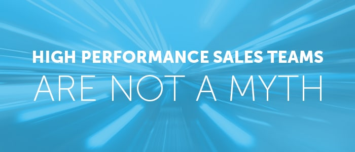 high performance sales teams